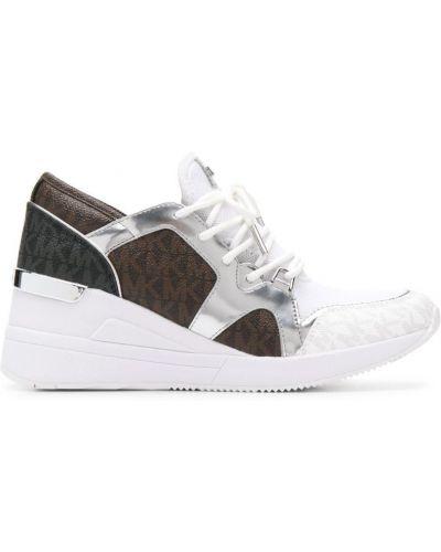 Кроссовки на платформе на шнуровке белый Michael Michael Kors