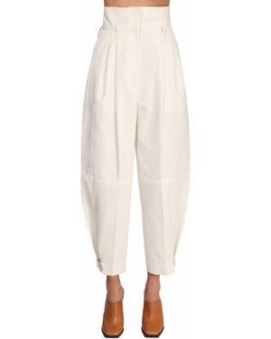 Spodnie z wysokim stanem ładunek z kieszeniami Givenchy