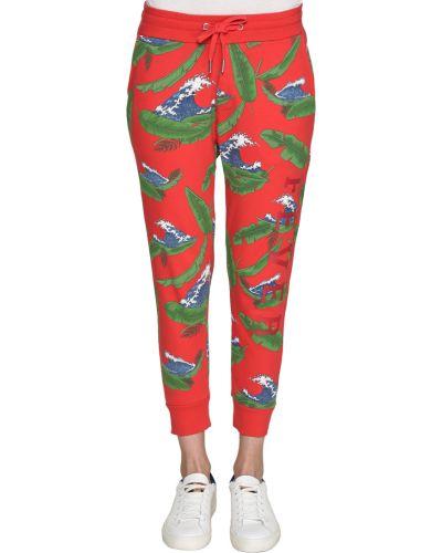 Хлопковые брюки - красные Zoe Karssen