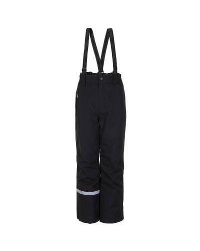Черные утепленные брюки свободного кроя Lassie