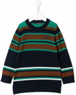 Prążkowany pulower wełniany z długimi rękawami Acne Studios Kids