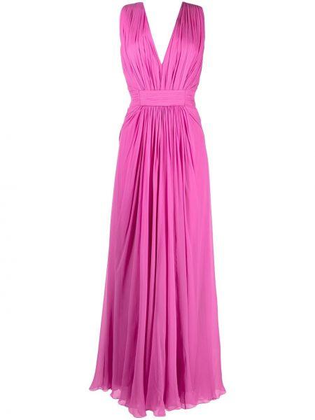 Шелковое платье макси - фиолетовое Alberta Ferretti