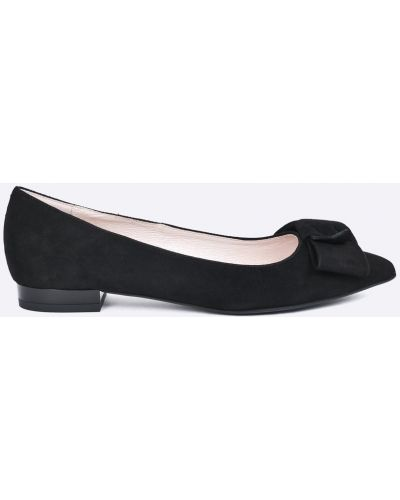 Черные балетки кожаные Gino Rossi