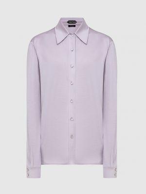 Шелковая сиреневая блузка Tom Ford