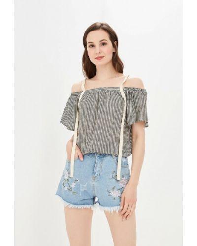 Блузка с открытыми плечами серая Care Of You