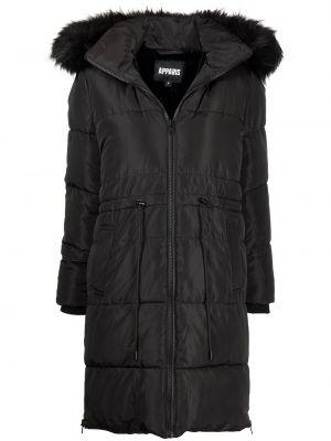 Czarny płaszcz pikowany Apparis