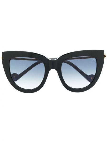 Прямые черные солнцезащитные очки металлические Anna Karin Karlsson