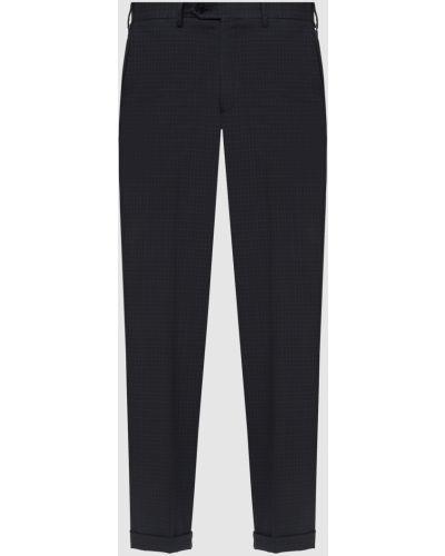 Шерстяные классические брюки - серые Brioni