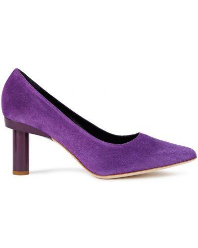 Фиолетовые замшевые туфли-лодочки с острым носом Tibi
