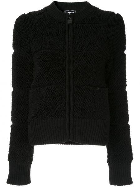 Черная куртка на молнии винтажная Chanel Pre-owned