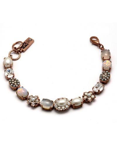 Серебряный браслет с камнями с жемчугом Amaro