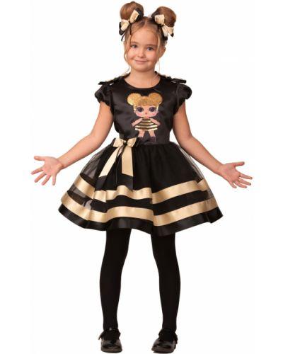 Нарядный черный карнавальный костюм новогодний Batik