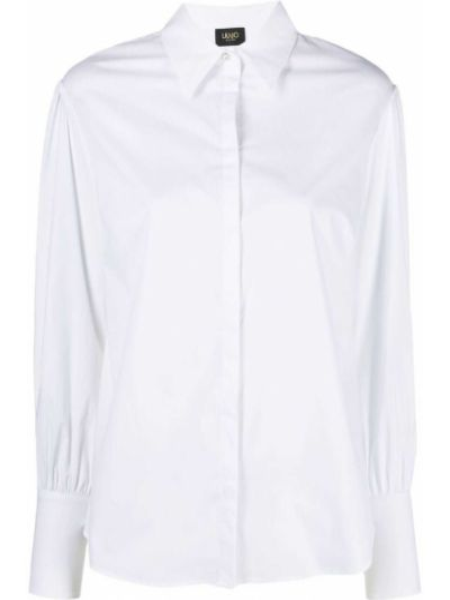 Хлопковая белая классическая рубашка с воротником Liu Jo