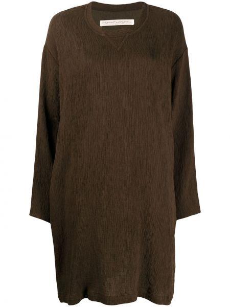 Нейлоновое зеленое платье с рукавами с вырезом круглое Raquel Allegra
