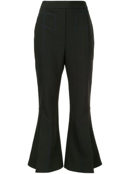 Czarne spodnie z wysokim stanem wełniane Ellery