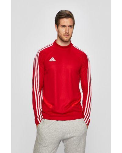 Кофта с вырезом красный Adidas Performance