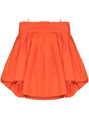 Блузка с открытыми плечами - оранжевая Roksanda