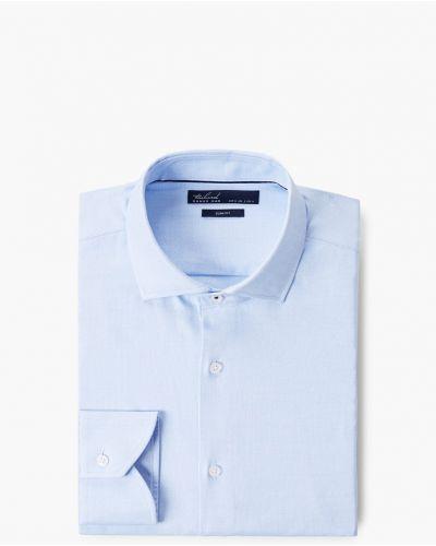 Рубашка однотонная хлопковая Mango Man