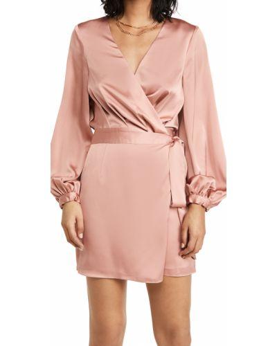Теплое платье макси с декольте с манжетами Fame And Partners