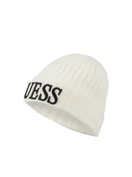 Wełniany biały czapka baseballowa Guess