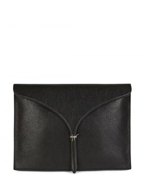 Черная кожаная сумка Giuseppe Zanotti