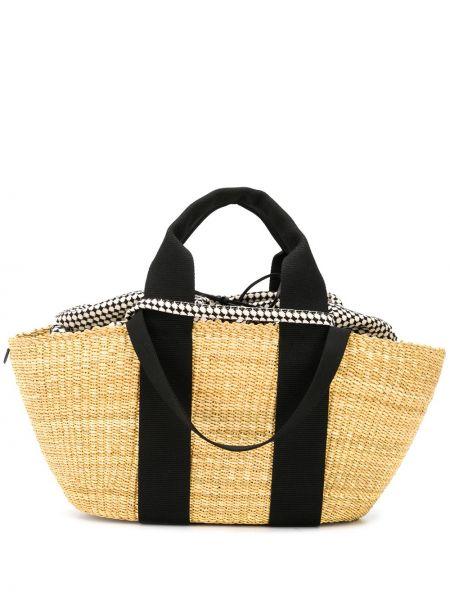Парусиновая кожаная сумка Muun