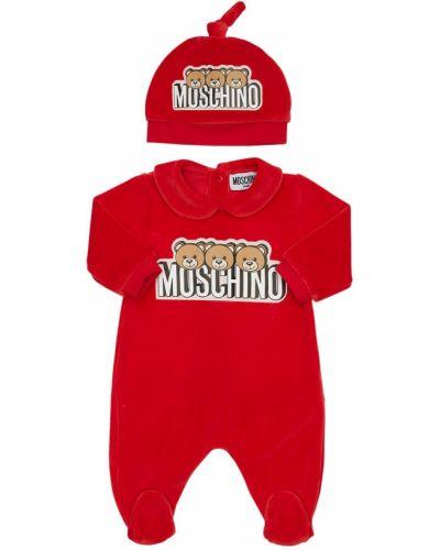 Bawełna bawełna kapelusz prążkowany z łatami Moschino