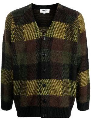 Zielony sweter z dekoltem w serek Ymc