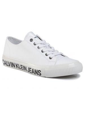 Jeansy biały Calvin Klein Jeans