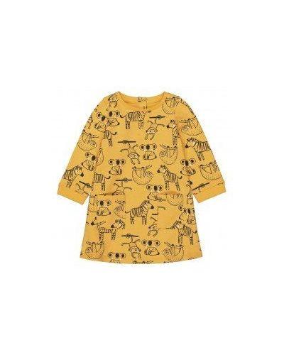 Хлопковое горчичное платье Mothercare