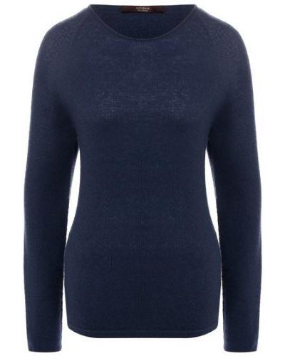 Кашемировый пуловер - синий Windsor