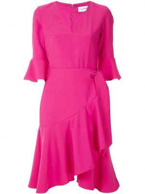 Платье мини розовое с V-образным вырезом Olympiah
