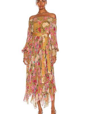 Шифоновое платье макси - розовое Rococo Sand