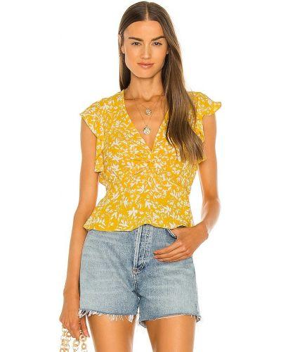 Złota żółta bluzka Bcbgmaxazria