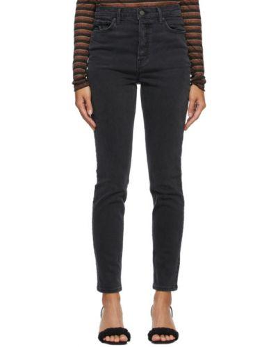 Зауженные черные джинсы-скинни с карманами Grlfrnd