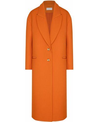 Оранжевое пальто на пуговицах свободного кроя Chapurin