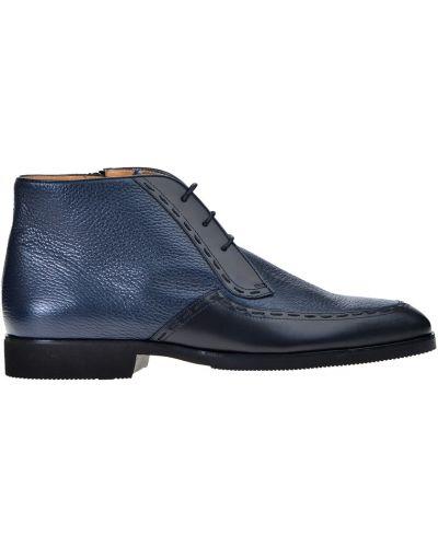 Ботинки на каблуке осенние кожаные Pakerson