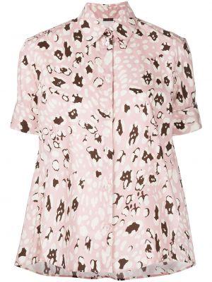 Рубашка с коротким рукавом - розовая Adam Lippes