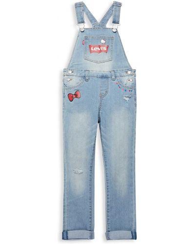 Хлопковый синий джинсовый комбинезон с карманами Levi's®