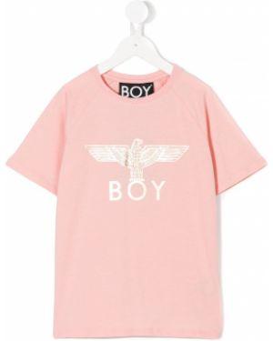 Розовая футболка Boy London Kids