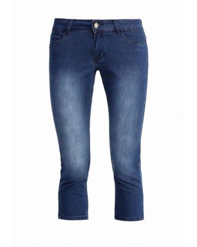 Расклешенные джинсы свободные синие Finn Flare