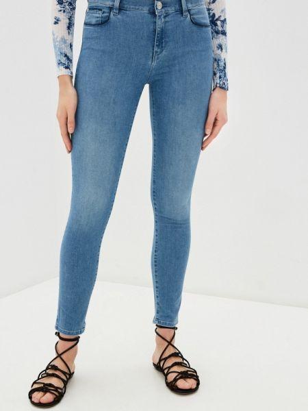 Синие джинсы-скинни с пайетками Twinset Milano