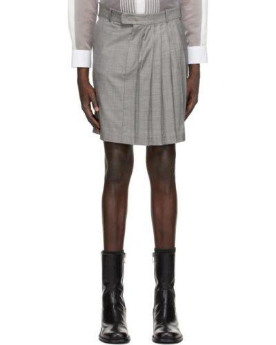 Черная плиссированная юбка с карманами Situationist