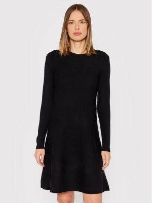 Sukienka dzianinowa - czarna Vero Moda