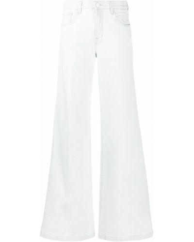 Свободные брендовые белые широкие джинсы J Brand