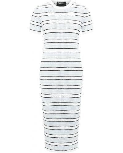 Платье макси в полоску из вискозы Markus Lupfer
