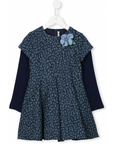 Синее платье с рукавами Loredana