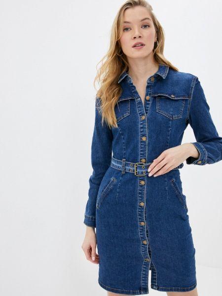 Джинсовое платье синее весеннее Befree