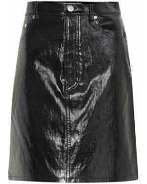 Юбка мини кожаная пачка Helmut Lang