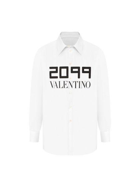 Рубашка с принтом из поплина Valentino